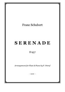 No.4 Ständchen (Serenade): For flute and piano by Franz Schubert