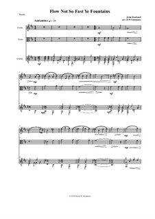 Flow not so fast ye fountains: For violin, viola and guitar by John Dowland