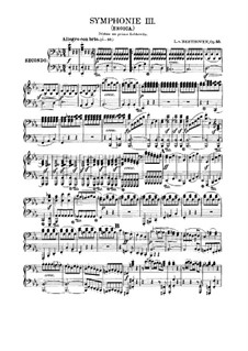 Symphony No.3 'Eroica', Op.55: Version for piano four hands by Ludwig van Beethoven