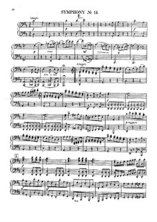 Symphony No.14 in A Major, Hob.I/14: For piano four hands by Joseph Haydn