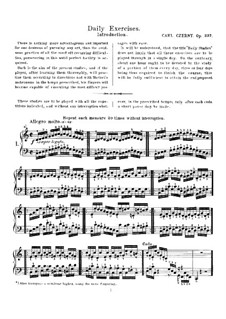 Daily Exercises, Op.337: Daily Exercises by Carl Czerny
