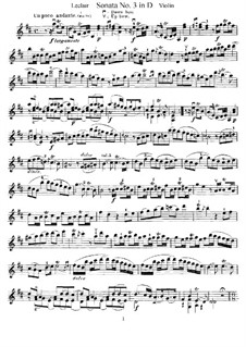 Sonata for Violin and Basso Continuo No.3, Op.9: Solo part by Jean-Marie Leclair