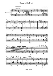 Three Sonatas for Piano, Op.2: Sonata No.1 – Movement III by Ludwig van Beethoven