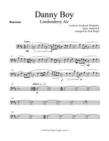 Danny Boy (Londonderry Air): For woodwind quintet - bassoon part by folklore