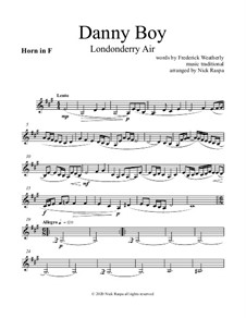 Danny Boy (Londonderry Air): For woodwind quintet - horn in F part by folklore
