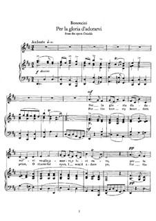 Griselda: Per la gloria d'adorarvi', for Voice and Piano by Giovanni Battista Bononcini