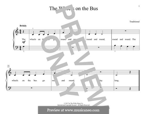 The Wheels on the Bus: For piano by folklore
