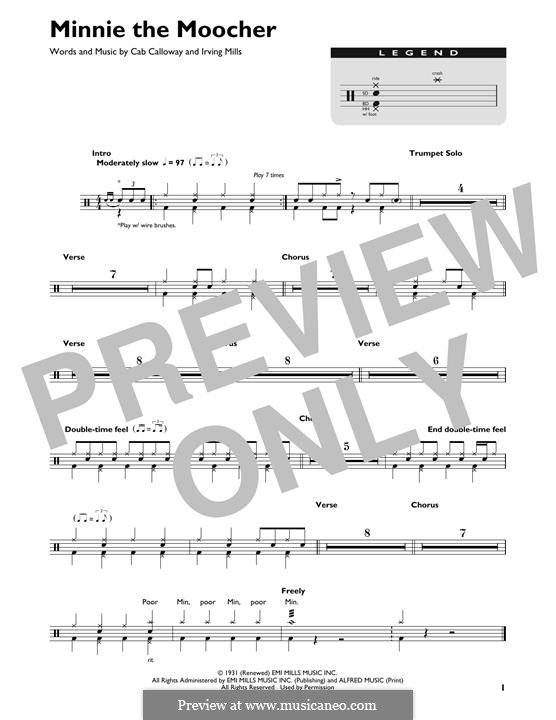 Minnie the Moocher: Drum set by Irving Mills, Cab Calloway