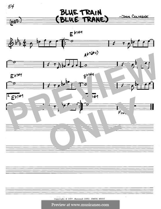 Blue Train (Blue Trane): For guitar by John Coltrane