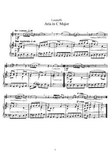 Aria in C Major: Version for flute and piano by Pietro Locatelli