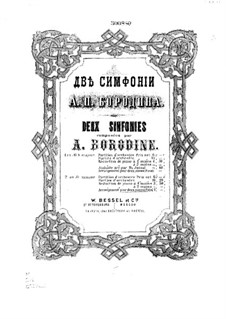 Symphony No.2 in B Minor: For two pianos four hands by Alexander Borodin