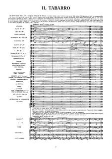Il Tabarro: Full score by Giacomo Puccini