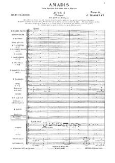 Amadis: Full score by Jules Massenet