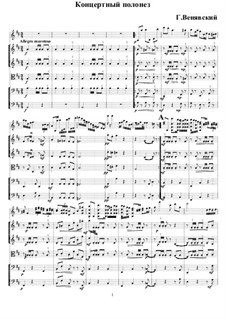 Polonaise De Concert For Violin And Piano No 1 In D Major Op 4 By H Wieniawski On Musicaneo