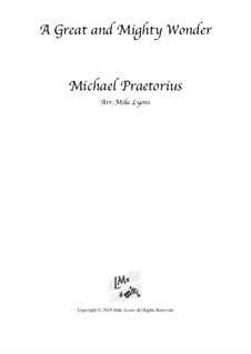 A Great and Mighty Wonder: For clarinet quintet by Michael Praetorius