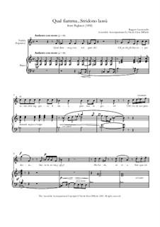 Pagliacci: Qual fiamma...Stridono lassù (Nedda's Aria) by Ruggero Leoncavallo