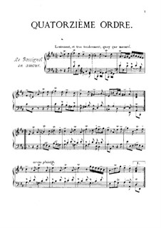 Ordres No.14-27: For piano by François Couperin