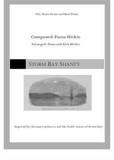 Storm Bay Shanty: For percussion by Fiona Hickie