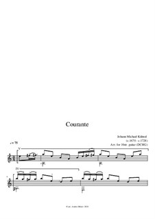Suite: Courante by Johann Michael Kühnel