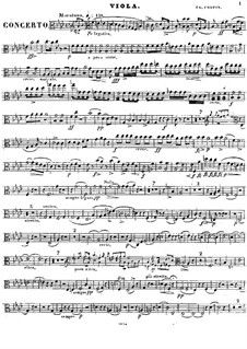 Complete Concerto: Viola part by Frédéric Chopin