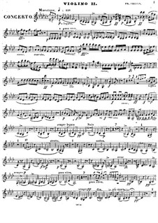 Complete Concerto: Violin II part by Frédéric Chopin