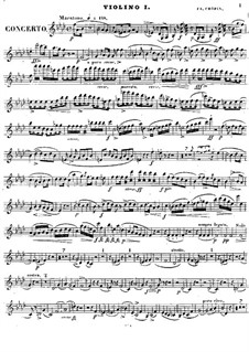 Complete Concerto: Violin I part by Frédéric Chopin