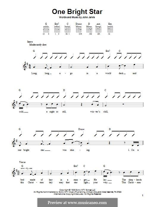 One Bright Star: For guitar with tab by John Jarvis