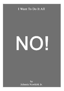 No: No by Johnnie Newkirk Jr