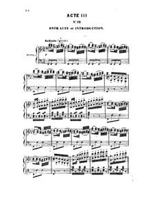Manon Lescaut: Act III, piano-vocal score by Daniel Auber