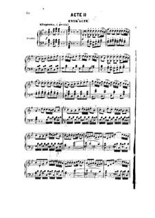 Manon Lescaut: Act II, piano-vocal score by Daniel Auber
