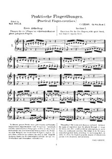 Practical Finger Exercises, Op.802: For piano by Carl Czerny