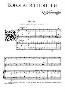 The Coronation of Poppea, SV 308: Piano-vocal score by Claudio Monteverdi