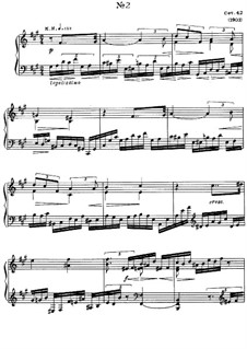 Eight Etudes, Op.42: Etude No.2 by Alexander Scriabin