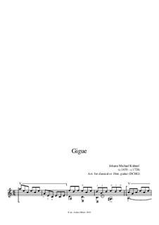 Suite: Gigue by Johann Michael Kühnel