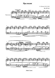 No.6 in B Minor: For piano by Frédéric Chopin