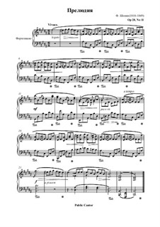 No.11 in B Major: For piano by Frédéric Chopin