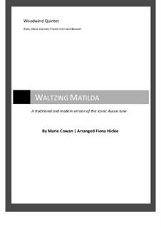 Waltzing Matilda: For wind quintet by Marie Cowan