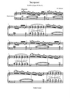 Four Impromptus for Piano, D.899 Op.90: Impromptu No.4 by Franz Schubert