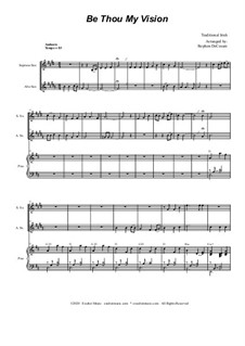 Be Thou My Vision: Duet for soprano and alto saxophone by folklore