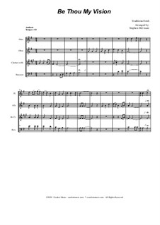 Be Thou My Vision: For woodwind quartet and piano by folklore