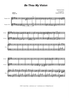 Be Thou My Vision: Duet for Bb-trumpet by folklore
