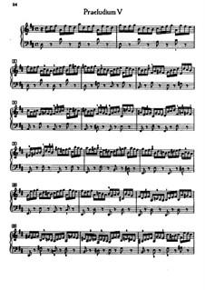 Prelude and Fugue No.5 in D Major, BWV 850: For piano by Johann Sebastian Bach