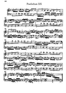 Prelude and Fugue No.20 in A Minor, BWV 889: For piano by Johann Sebastian Bach