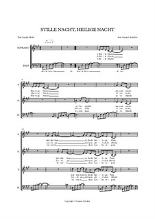 Piano-vocal score: For mixed choir by Franz Xaver Gruber