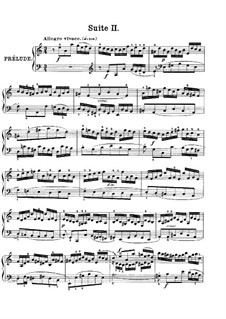 Suite No.2 in A Minor, BWV 807: For piano by Johann Sebastian Bach