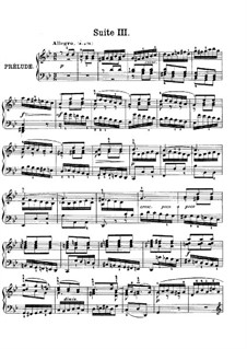Suite No.3 in G Minor, BWV 808: For piano by Johann Sebastian Bach