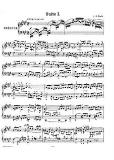 Complete set, BWV 806-811: For piano by Johann Sebastian Bach