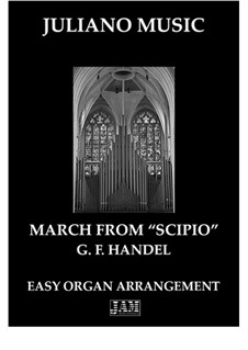Scipione, HWV 20: March. Arrangement for easy organ - C version by Georg Friedrich Händel