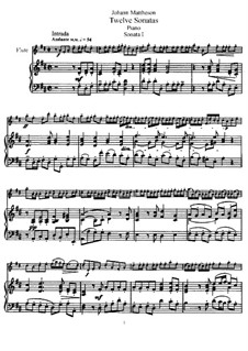 Sonata No.1: Version for flute and piano by Johann Mattheson