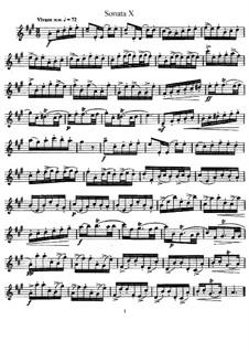 Sonata No.10: Solo part by Johann Mattheson